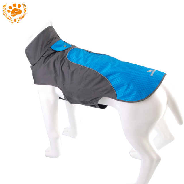 New My Pet 3 color Waterproof Dog Outdoor Reflective Strip Blue Jacket Winter Warm Pets Clothes Breathable Plus Size VC-JK12012