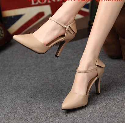 2013 pointed toe shoes high-heeled shoes and bags button candy color high-heeled single shoes women's shoes thin heels