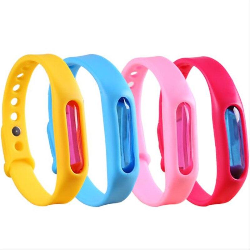 50PCS Mosquito Repellent Buckle Capsule Anti Mosquito Pest Insect Bugs Repellent Repeller Wrist Band Bracelet Wristband