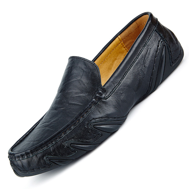 New Brand Quality Men Loafers Leather Breathable