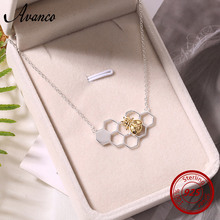Avenco 925 Sterling Silver Necklaces for Women 2019 Ladies Honeycomb Bee Pendant Necklace Weeding Party Jewelry недорого