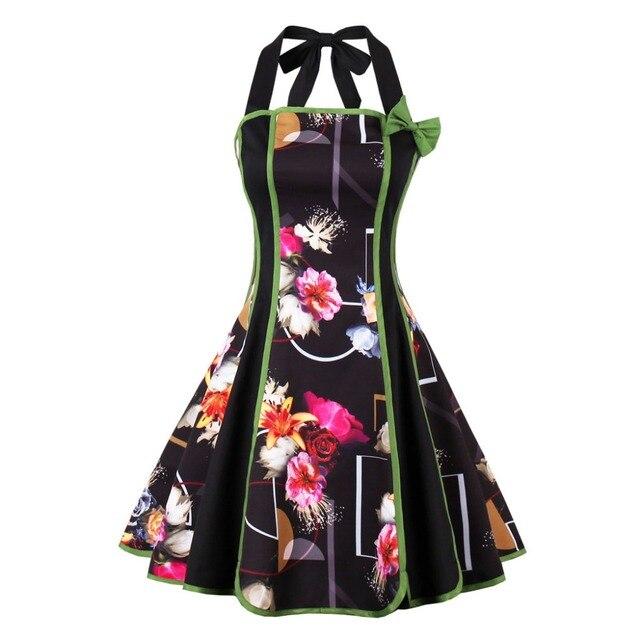 Drop Shipping Women Audrey Hepburn Off Shoulder Dresses 50s 60s Ro