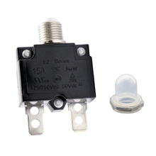 1 Pcs 15A Circuit Breaker With Push Button Resettable & Transparent Waterproof Cap For Car Truck Boat Etc DC 50V Or AC 125/250V