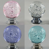 5pcs Modern Crystal Glass Ball Cabinet Door Handles Classic Cabinet Drawer Single Hole Handle For Furniture