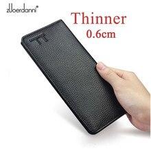 ソフトslam財布メンズロング財布超薄型財布本革カードホルダー多機能ハンドバッグ高品質ファッション