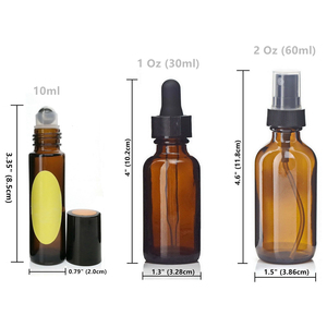 Image 4 - 18pcs Empty Amber Glass Essential Oil Bottles with Stainless Steel Roll on Roller Balls & Accessories for Essential oils Perfume