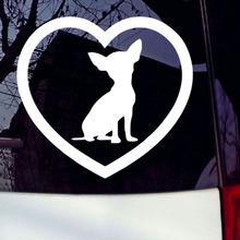 Chihuahua Heart Cute Puppy Dog Car Bumper Window Laptop Wall Vinyl Decal Sticker