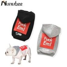 Nunubee Fashion Small Pet Dog Cat Puppy Cotton Sweater Hoodie T-shirt Clothing Clothes XS S M L XL XXL XXXL