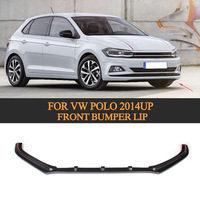 PU unpainted car auto bumper front lip spoiler fit for VW POLO Standard Hatchback 4 Door Only 14 16 Non GTI R