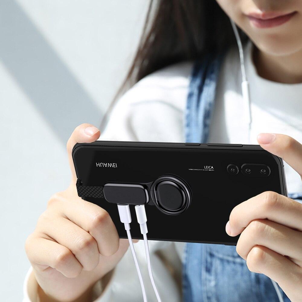 5X USB C до 3,5 мм аудио зарядное устройство Регулировка держатель телефона OTG двойные адаптеры и кольцевой держатель быстрая зарядка для смартфона type C Android - 6