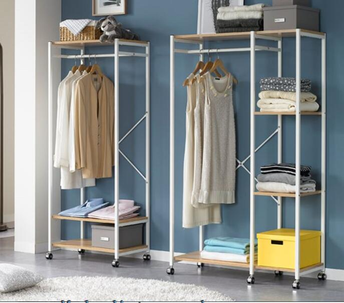 Wardrobe rack Floor to ceiling minimalist clothes rack A steel frame font b closet b font