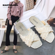 Brand New Summer Slippers Fashion Soft Flat Casual Fashionable Black White