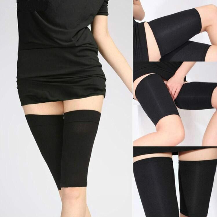 Black Slimming Belt Burn Cellulite Wraps Leg Loss Fat Thigh Slimmer Shaper 2019