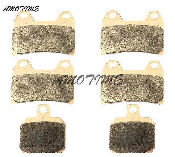 Motorcycle Parts Copper Based Sintered Motor Front & Rear Brake Pads For Ducati Monster 620 696 748 750 796 ST2 ST3 ST42001-2014 sintered copper motorcycle parts fa252 front brake pads for yamaha fzs 600 fazer 98 03