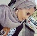 1 Unidades Horizontal Ondas Llanura Algodón de Las Mujeres Bufandas Chales Hijabs Musulmanes Larga Bufanda de Lujo Turquía Estilo Echarpe