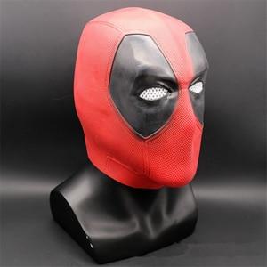 Image 2 - Nowy Deadpool maski Cosplay Wade Winston Wilson na całą głowę kask maska lateksowa Party Halloween na bal przebierańców rekwizyty do Cosplay Halloween