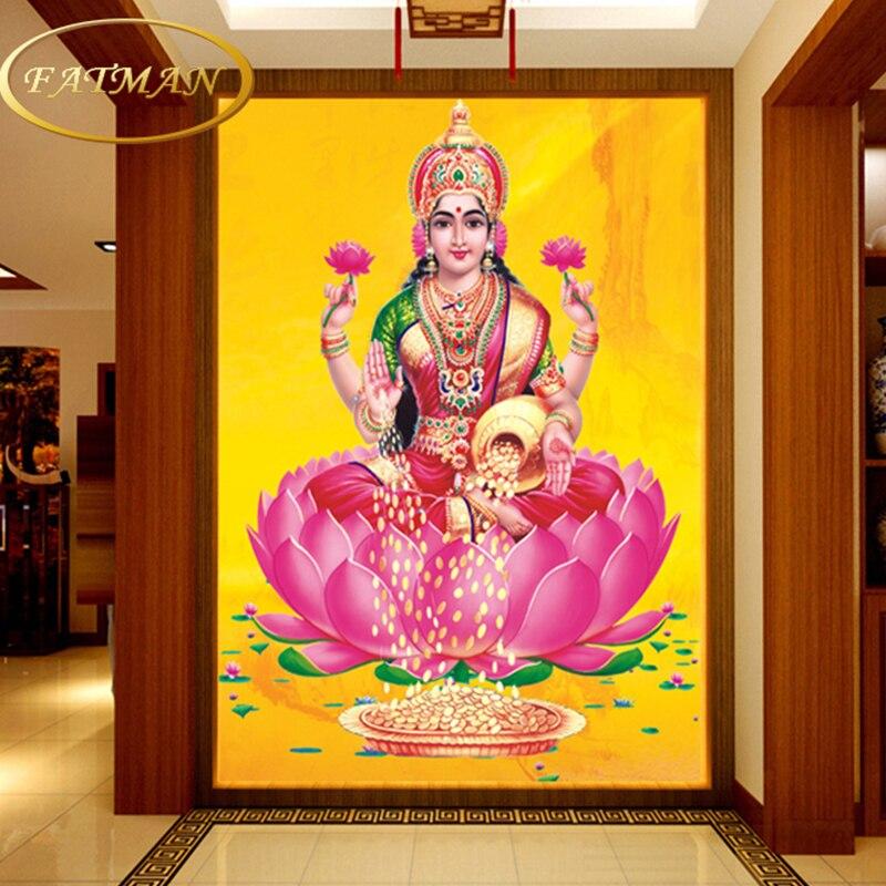 Custom 3D Photo Wallpaper Personalized Hindu Deities Wallpaper Mural Jesus Wallpaper Living Room Lobby Wallpaper Papel De Parede