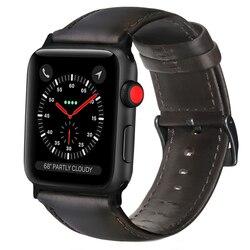 Kuh Leder Armband Braun Kaffee Schwarz Echt Lederband für Apple Uhr Band 38mm/42mm/40 mm/44mm Für iWatch Serie 5/4/3/2/1