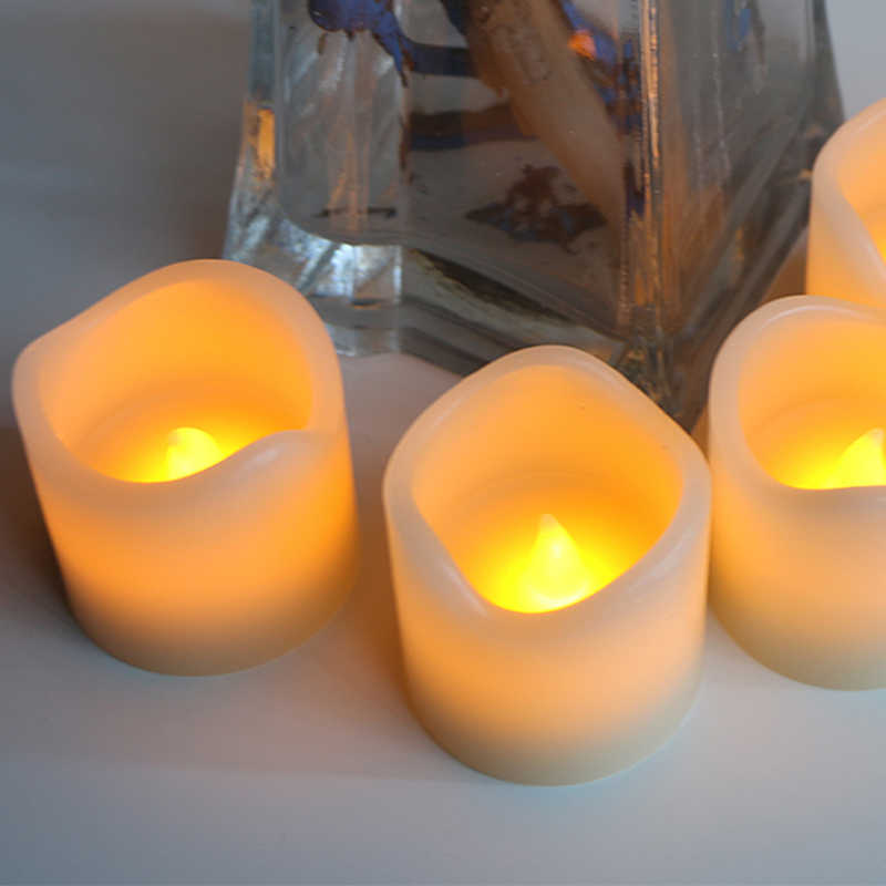 Flameless Candles Pillar Battery-Powered LED Candle Lamp Yellow Flicker Wave Shape LED Candles For Party Christmas Decoration