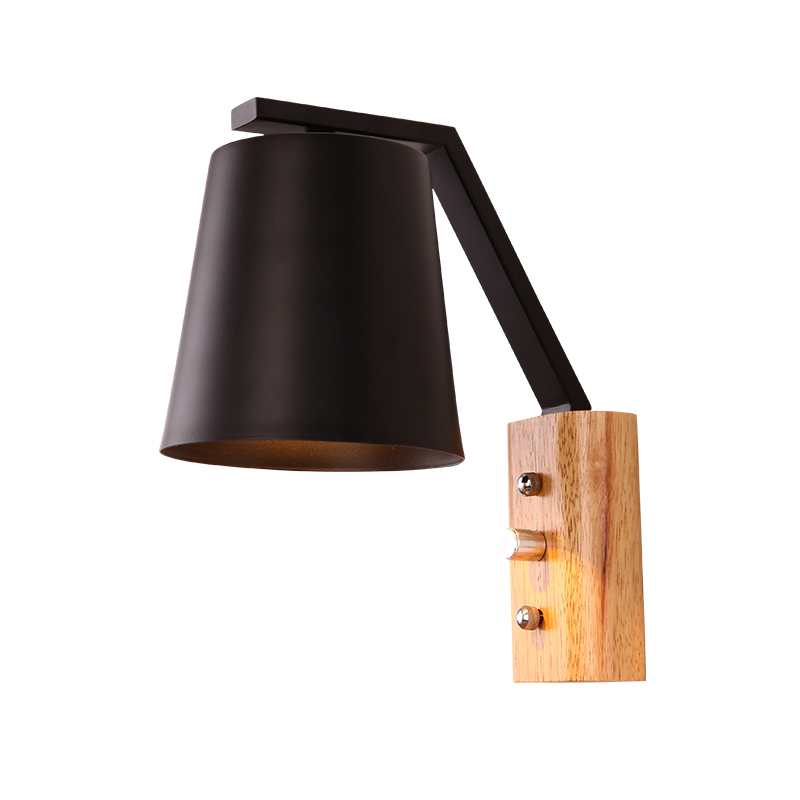 Modern 2pcs Sconce Wood Wall Lights Fixtures LED Black White Wall Lamp Up Down for Home Lighting Indoor Bedside Stair Bedroom modern minimalist wall lamp solid wood lamps frosted glass oak lights indoor home lighting fixtures decoration bedroom sconce
