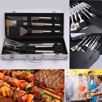 BBQ Barbecue Tool Set Stainless Steel Utensil BBQ Oil Brushes Forks Knives Spatulas Tongs Turners For Barbecue Accessories
