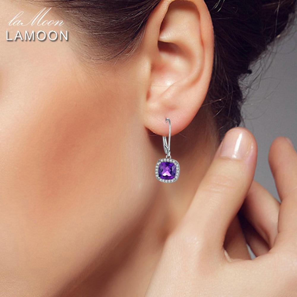 LAMOON Ohrringe 925 Sterling Silber Edlen Schmuck 6mm 2.4ct - Edlen Schmuck - Foto 5