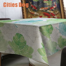 tablecloth Creative simple green plant leaves nappe rectangulaire Decorate wedding tablecloth on the table round table cloth