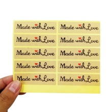 "100 Pcs/lot Vintage ""Made With Love"" Red Heart Sticker Gift Seal Stickers For Homemade Bakery & Gift Packaging Scrapbooking"
