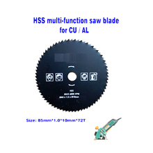 1set 3 in 1 TCT circular blade 24T diamond cutting disc HSS for multi function mini saw dia 85mm hole 10mm