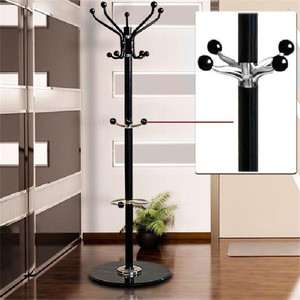 Image 1 - New Tree Style Coat Rack 1.7m Metal Coat Hat Jacket Stand Tree Holder Bags Hanger Rack with Marble Base Clothes Racks HWC