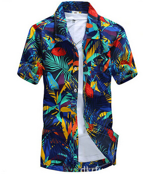Merk zomer Hawaiian heren Hawaii strand shirt, mannen korte mouwen - Herenkleding - Foto 2