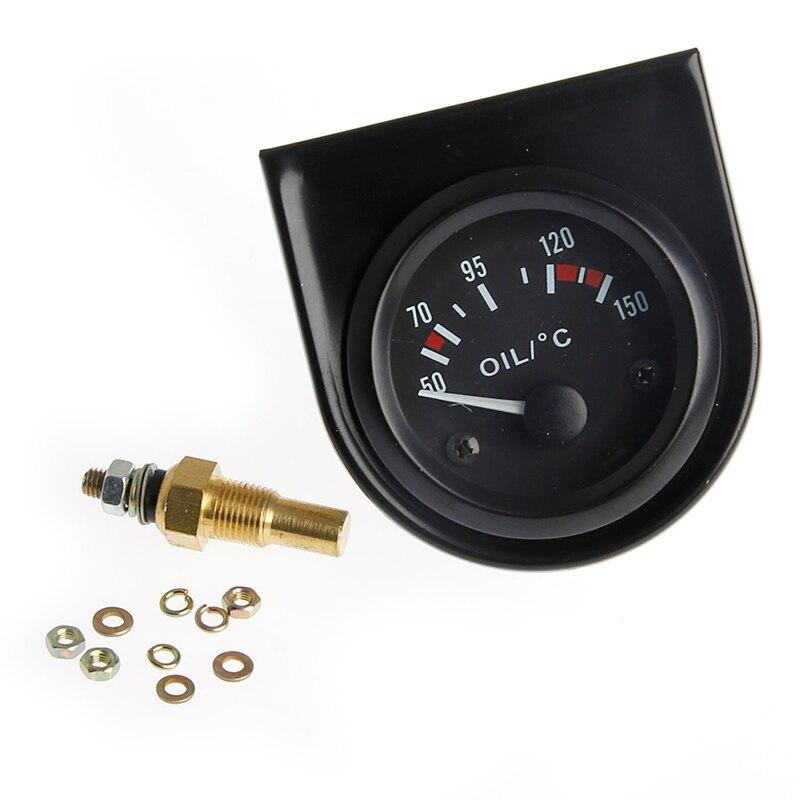 "Careful Universal 2"" 52mm Led Light Car Pointer Oil Temperature Temp Gauge 50-150 Degrees Celsius New"