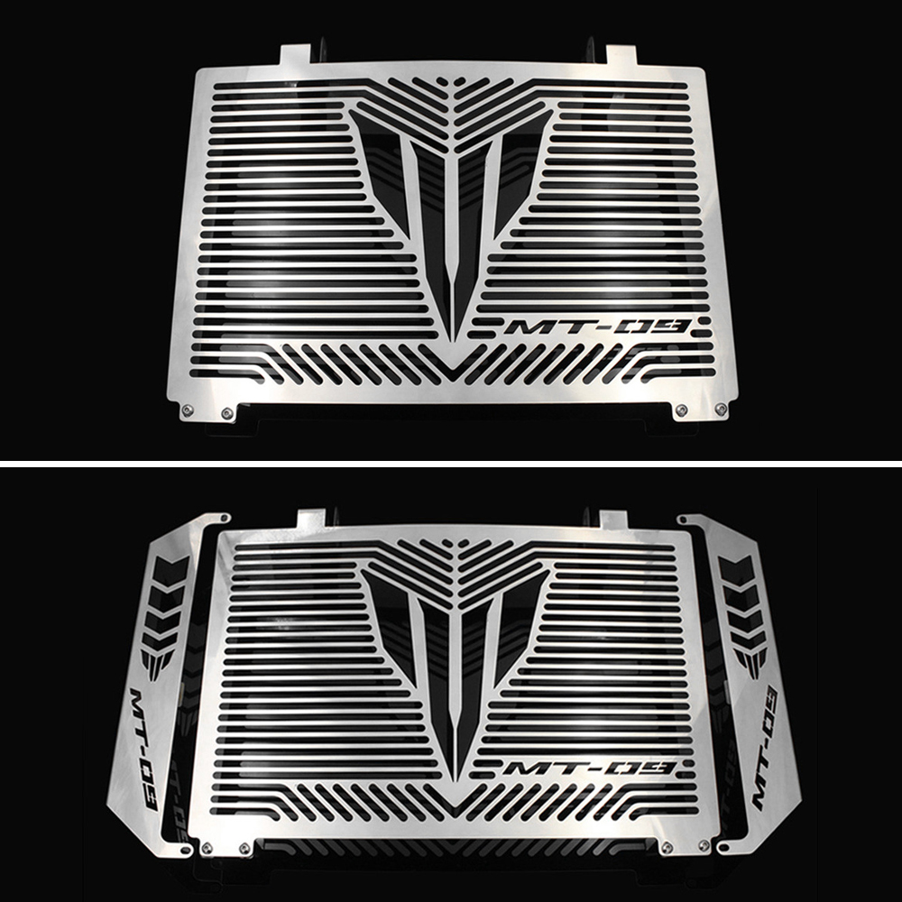 Silver Motorcycle Accessories Radiator Guard Protector Grille Grill Cover For YAMAHA MT 09 MT-09 MT09 TRACER Free shipping motorcycle arashi radiator grille protective cover grill guard protector for yamaha yzf r1 2004 2005 2006