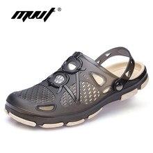 853726bccd0217 2018 New Summer Jelly Shoes Men Beach Sandals Hollow Slippers Men Flip Flops  Light Sandalias Outdoor
