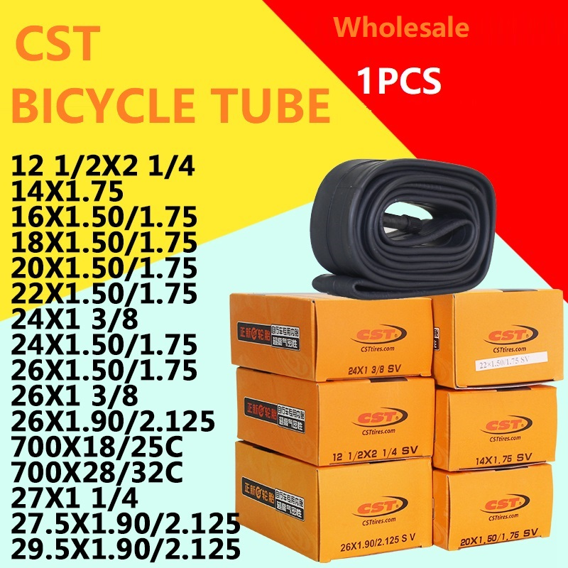 Bicycle Tube 12 / 14 / 16 / 18 / 20 / 700 / 24 / 26 x1.95 / 1.75 / 1.50 / 1 3/8 Inch CST Inner Tube Schrader Presta Valve AV/FV(China)