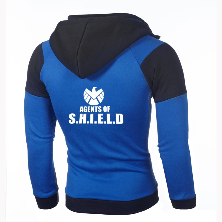 Free shipping fashion agents of s.h.i.e.l.d hoodie personality color double zipper hooded cardigan jacket riverdale sweatshirt