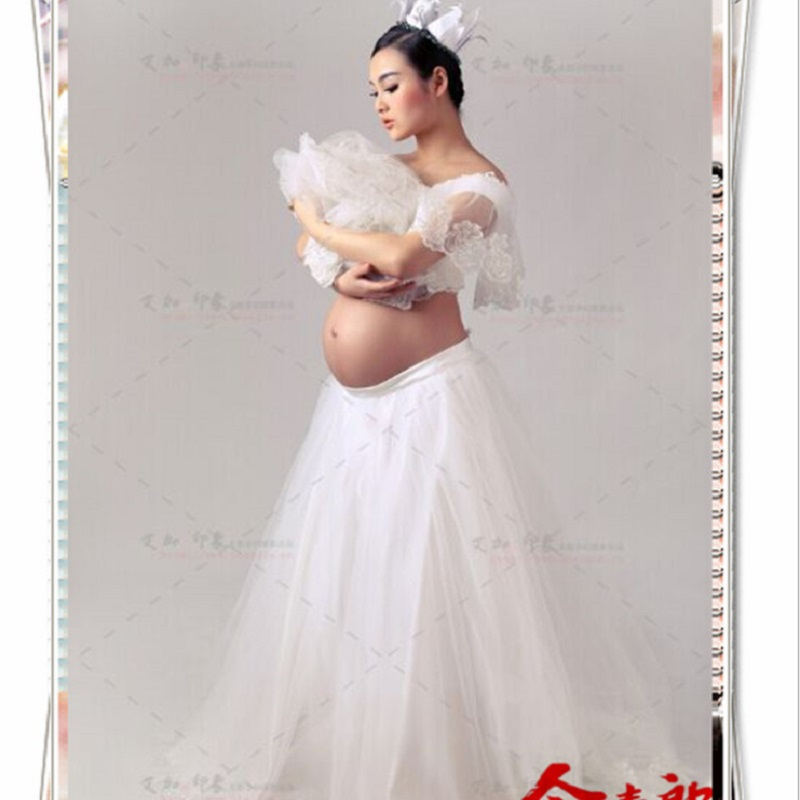 White Lace Maternity Photography Props Dresses Elegant Fancy Pregnancy Clothes For Pregnant Women Elegant Photo Shoot Long Dress  rq elegant maternity dress photography props long dress pregnant women clothes fancy pregnancy photo props shoot q83