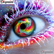 Dispaint Full Square/Round Drill 5D DIY Diamond Painting Purple eye painting 3D Embroidery Cross Stitch Home Decor A11464