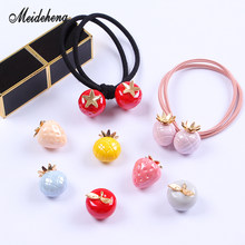 Acrylic Fruits Apple Strawberry Creamy beads Single Hole Bracelet Pendant Necklace Hair Ornament Jewelry AccessoriesWomen'sGifts(China)