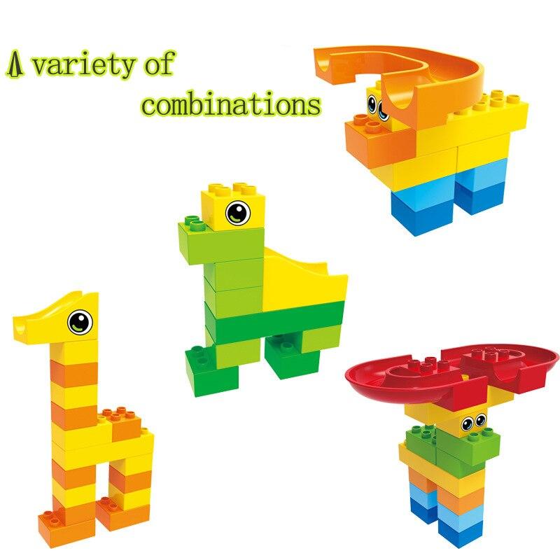 Children 3D Building Blocks Balls DIY Run Rolling Ball Rail Toys Large Grain Blocks Toys Children Christmas birthday gift in Blocks from Toys Hobbies