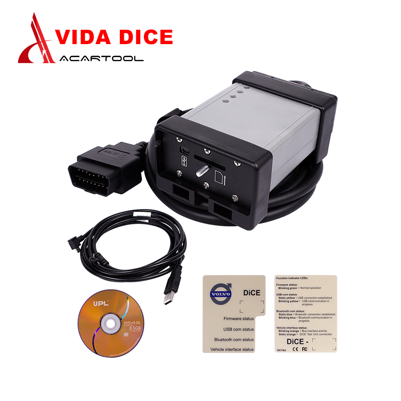 Full Chip For Volvo Vida Dice 2014D Car Diagnostic Tool USB With Multi-language For Volvo Obd2 Scanner