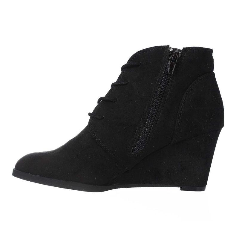 Super Damas Nancyjayjii Adulto Zapatos De Moda Tacones Mujer Ty01 2019 Cremallera Rebaño Alta atado Cuñas Botas Punta Novedad ZIzxgq