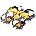 10 dente crampons crampons montanhismo escalada estilo cinta grandes dentes de aço manganês garra neve skid sapato cobre