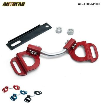 Car Truck Red Adjustable Battery Hold Tie Down Clamp Mount Bracket Holder Bar For Subaru Toyota AF-TDPJ4109 image