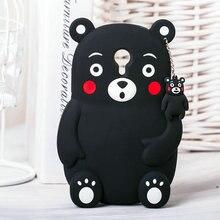 Для Meizu M5 Примечание Случае 3D Прекрасный Милый Мультфильм Медведь Мягкая Ударопрочный силиконовый Чехол Для Meizu M5 Примечание Мейлань Примечание 5 случае