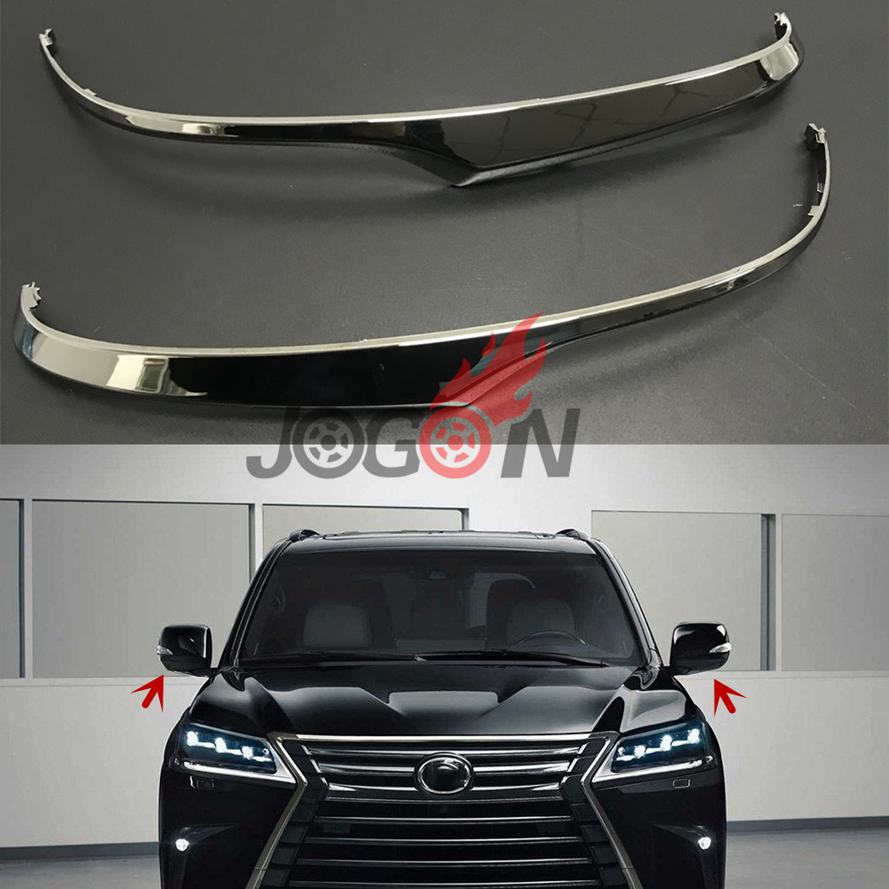 Car Side Rearview Mirror Replacement Stripe Trim For Lexus LX570 2015 2019 Upgrade Styling ABS Chrome
