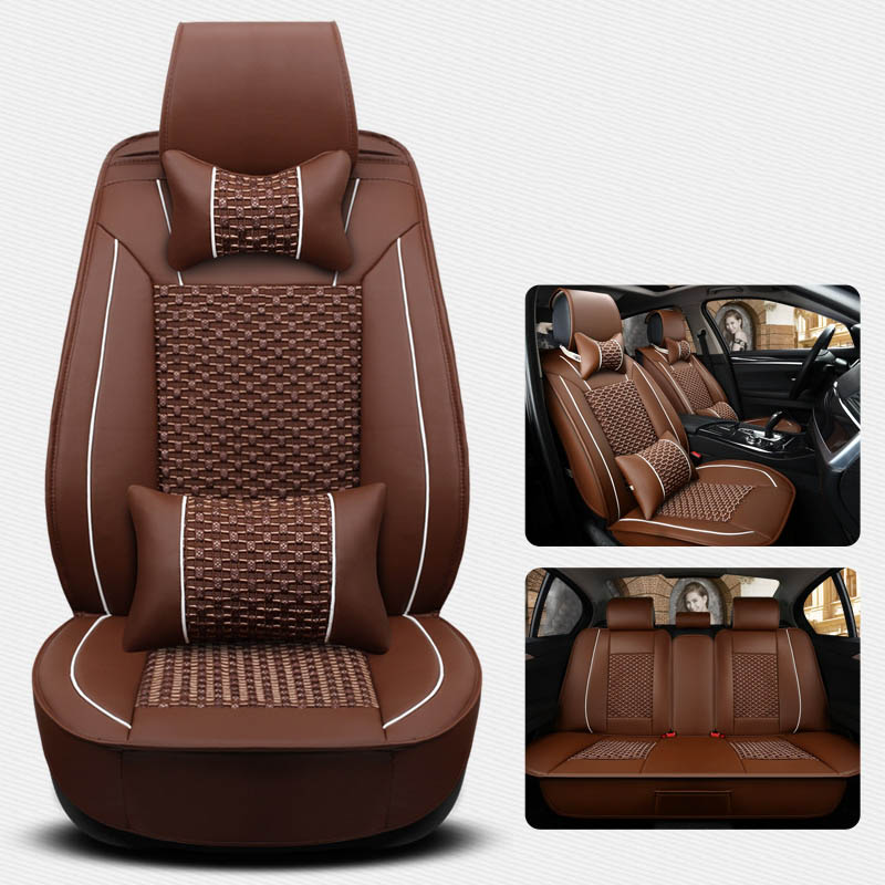 GEEAOK car seat cover fit for auto rx 460 volvo xc90 skoda kodiaq kia  summer cool seat car seats auto accessories car styling