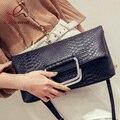 Nueva llegada de piel de serpiente envelope paquete de Embrague plegable de moda bolsa de hombro bolsos de las señoras crossbody messenger bag purse