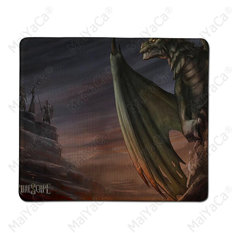 MaiYaCa Simple Design RuneScape Logo Customized MousePads Computer Laptop Anime Mouse Mat Rubber PC Computer Gaming mousepad in Mouse Pads from Computer Office