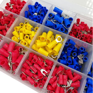 Image 5 - Box assorted full insulated fork U type set terminals connectors assortment kit electrical wire crimp spade ring terminal
